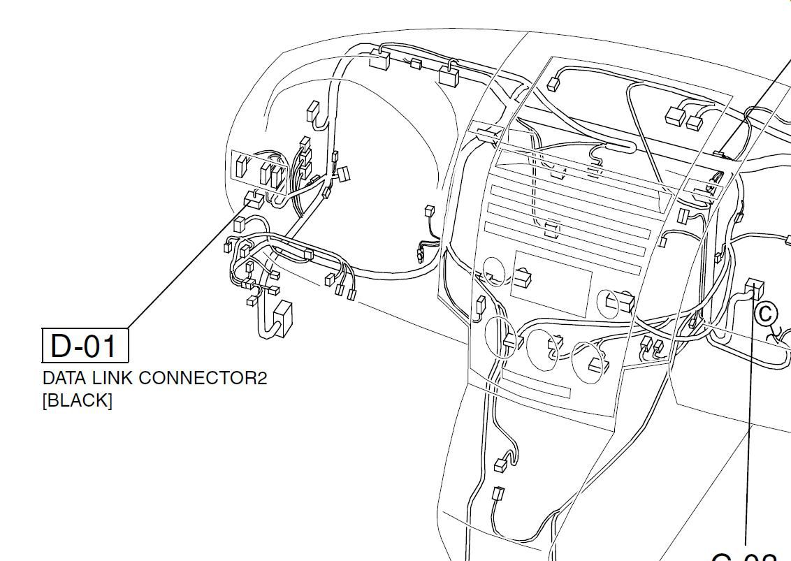 Mazda Miata Obd2 Connector Location, Mazda, Get Free Image