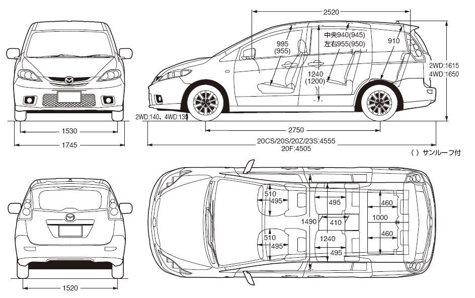 dodge grand caravan cargo space length