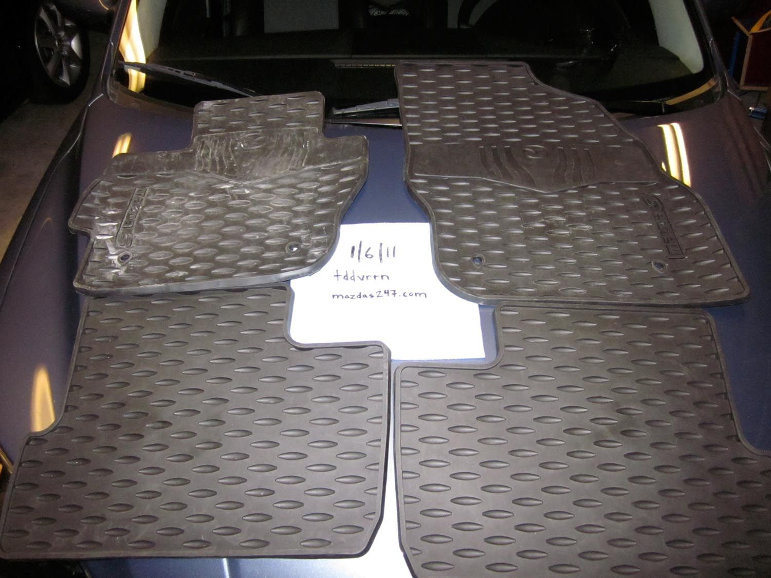 floor mats miata na black pair mazda factory nb