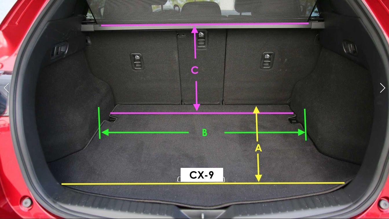 2019 2020 Cx 9 Cargo Area Dimensions Mazdas247