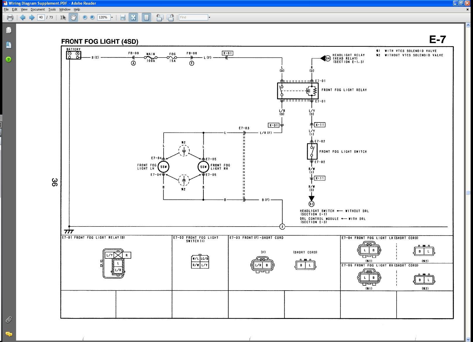 140df9 Mazda Fog Lights Wiring Diagram Wiring Library