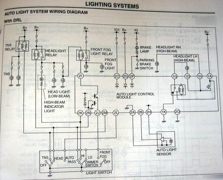 Mazdas247 Off With High Beam Fog Light Wiring Diagram on